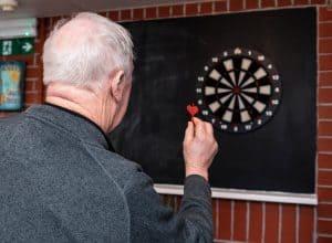 social-activities-games-darts-care-home-nursing-nottingham-lowmoor