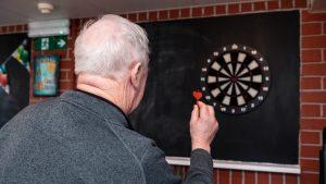 playing darts in nursing home